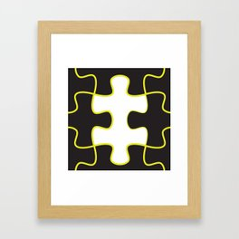 Finding the missing piece Framed Art Print