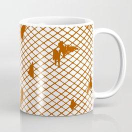 orange checked  Coffee Mug