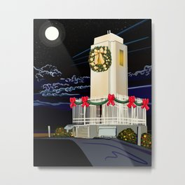 Christmas Lighthouse Metal Print