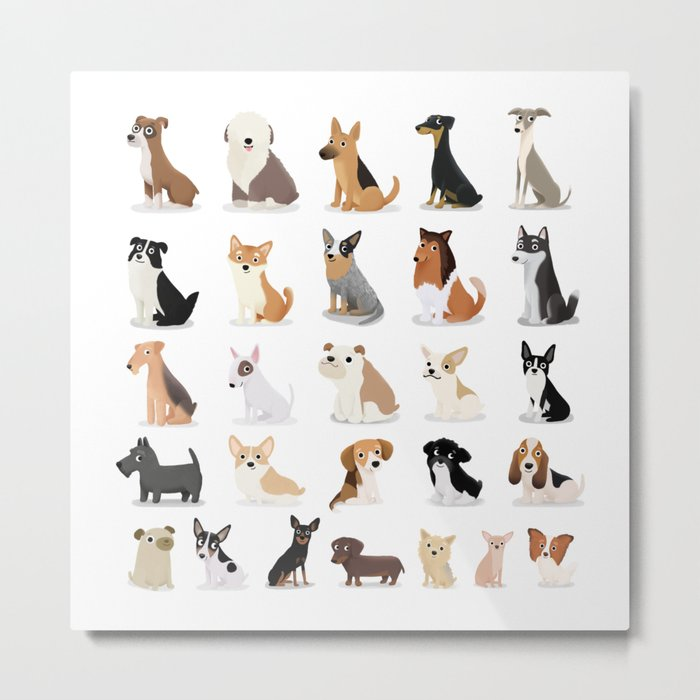 Dog Overload - Cute Dog Series Metal Print