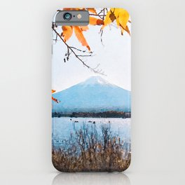 Japan watercolor painting #3 iPhone Case