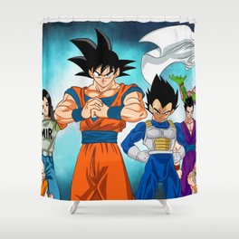 Dragon ball Chracters Shower Curtain