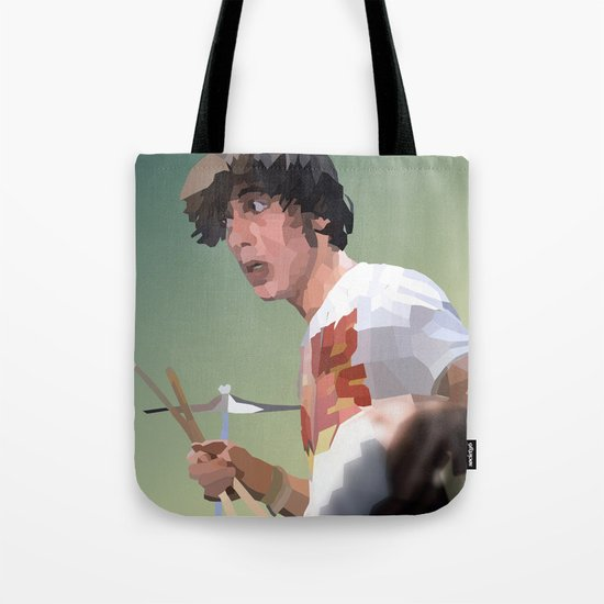 Low Polygon Portrait of Keith Moon Tote Bag