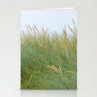 dune Stationery Cards featuring Dune Grass by A Wandering Soul