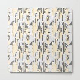 Black, Yellow and Gray Architectural Print Metal Print