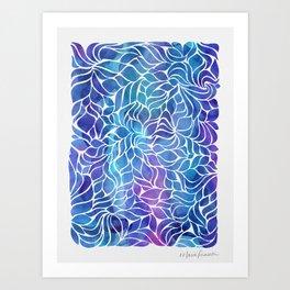 Crush - Indigo Art Print