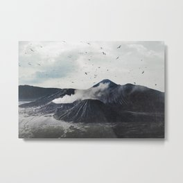 Birds Over Mount Bromo, Indonesia Metal Print