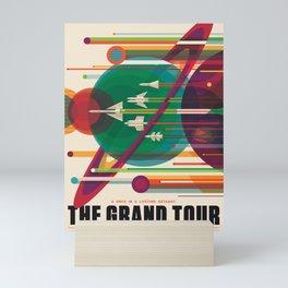 NASA Retro Space Travel Poster The Grand Tour Mini Art Print