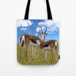 Grazing Gazelles Tote Bag