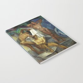 Young Bathers by George Pauli Nude Male Art Notebook