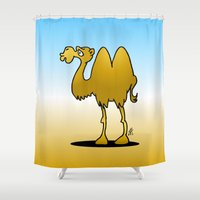 camel Shower Curtains featuring Camel by Cardvibes.com - Tekenaartje.nl