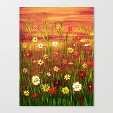 Flowers in the sunrise Canvas Print