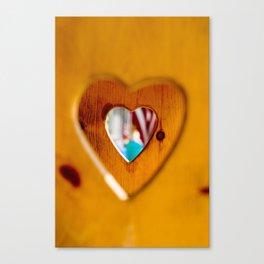 Wooden Hearts Canvas Print