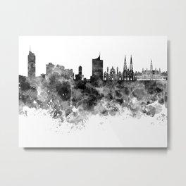 Vienna skyline in black watercolor  Metal Print