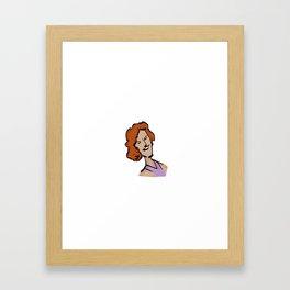 MARIE-SOLANGE / la voix de Villeray / En tout cas. Framed Art Print