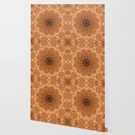 Wooden Flower Ring kaleidoscope Wallpaper