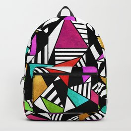 Geometric Multicolored Backpack