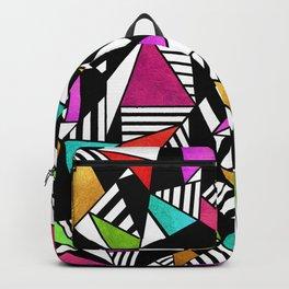 Geometric Multicolored Backpack