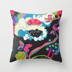 Garden of Earthly Delight Throw Pillow