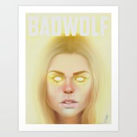 bad wolf Art Prints featuring Bad Wolf by missjosh