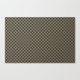 Smal black, white and gold dots pattern Canvas Print