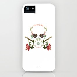 Floral Skull iPhone Case