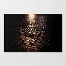 cobbled rain II. Canvas Print