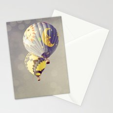 Moon Balloon Stationery Cards
