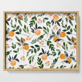 Orange Grove Serving Tray