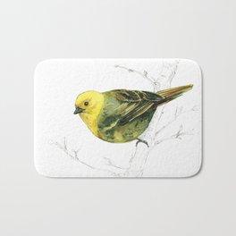 Mr Mohua , yellowhead New Zealand native bird Bath Mat