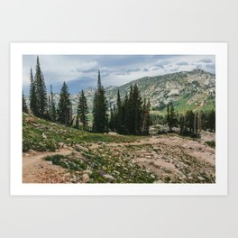 Wasatch Mountains, Utah Art Print