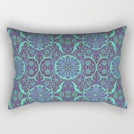 Poppy Pods Mint and Purple Rectangular Pillow