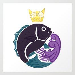 King of the Sea Art Print