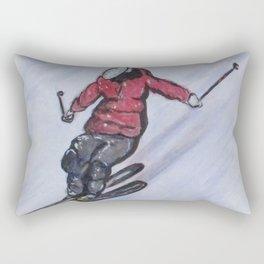 Snow Ski Fun Rectangular Pillow