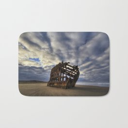 Peter Iredale Shipwreck Sunrise Bath Mat