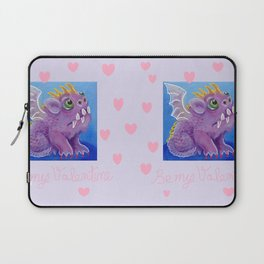 Purple monster Valentine's Day gift Laptop Sleeve