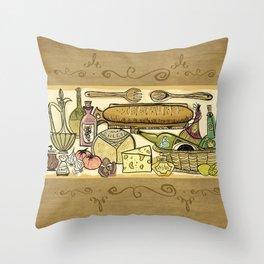 The Joy Of Cooking Throw Pillow