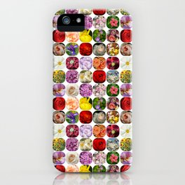 A Collage Of Bright Flowers iPhone Case