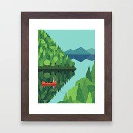 Fishing from a canoe Framed Art Print