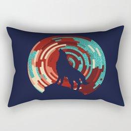 Howling wolf  DJ wall art print Rectangular Pillow