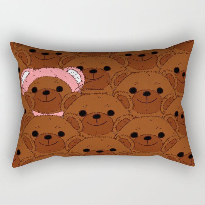 A Bear In Disguise Rectangular Pillow