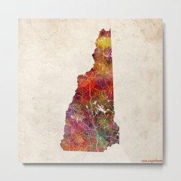New Hampshire map Metal Print