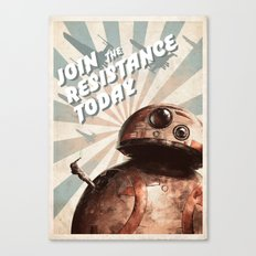 Join The Resistance Today! Canvas Print