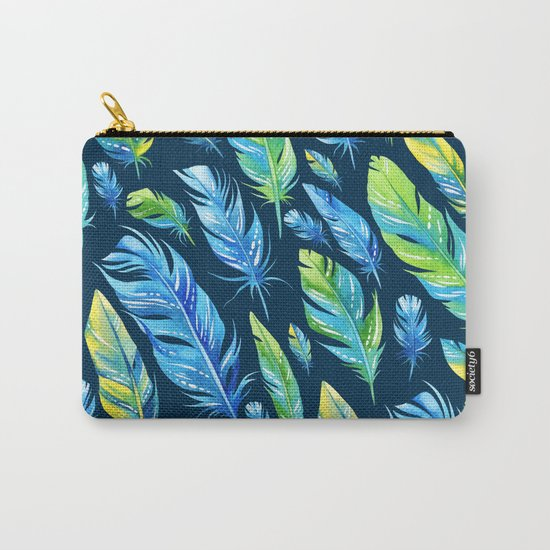 Feathers Pattern 04 Carry-All Pouch