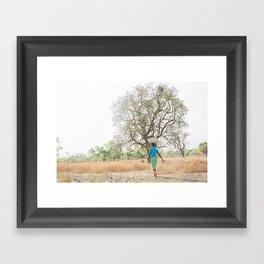 Hannah & the Baobab Tree Framed Art Print