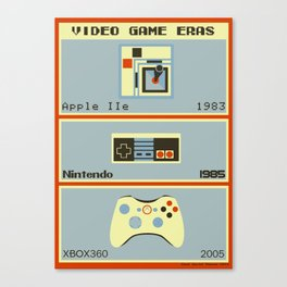 Video Game Eras Canvas Print