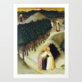 Sano di Pietro The Meeting of Saint Anthony and Saint Paul Art Print