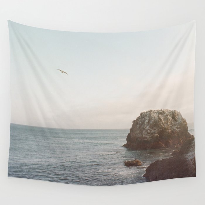 A Break From the Pack in Big Sur Wall Tapestry