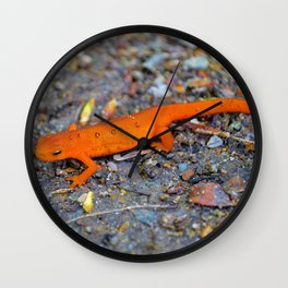 Red Spotted Newt Wall Clock