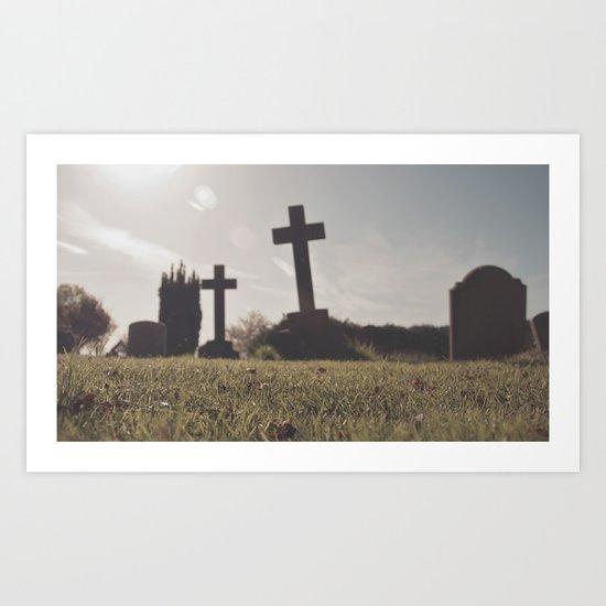 it's so depressing when people die in real life... Art Print